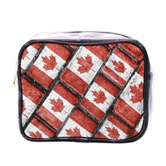 Canadian Flag Motif Pattern Mini Toiletries Bags