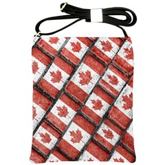 Canadian Flag Motif Pattern Shoulder Sling Bags