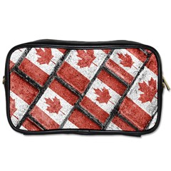Canadian Flag Motif Pattern Toiletries Bags