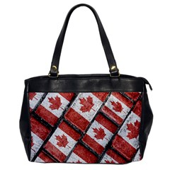 Canadian Flag Motif Pattern Office Handbags