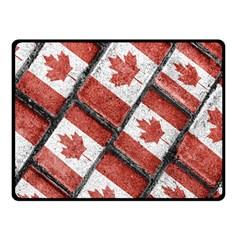 Canadian Flag Motif Pattern Fleece Blanket (small)