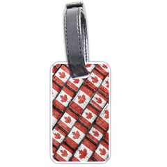 Canadian Flag Motif Pattern Luggage Tags (one Side)