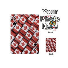 Canadian Flag Motif Pattern Playing Cards 54 (mini)