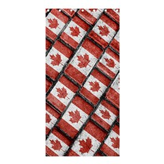 Canadian Flag Motif Pattern Shower Curtain 36  X 72  (stall)