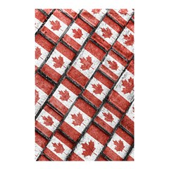 Canadian Flag Motif Pattern Shower Curtain 48  X 72  (small)