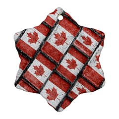 Canadian Flag Motif Pattern Ornament (snowflake)
