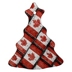 Canadian Flag Motif Pattern Ornament (christmas Tree)