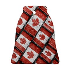 Canadian Flag Motif Pattern Bell Ornament (two Sides)
