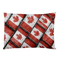 Canadian Flag Motif Pattern Pillow Case (two Sides)