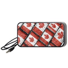 Canadian Flag Motif Pattern Portable Speaker