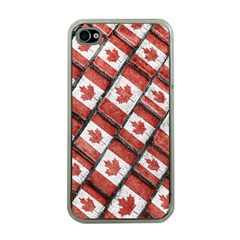 Canadian Flag Motif Pattern Apple Iphone 4 Case (clear)