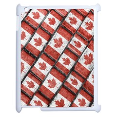 Canadian Flag Motif Pattern Apple Ipad 2 Case (white)