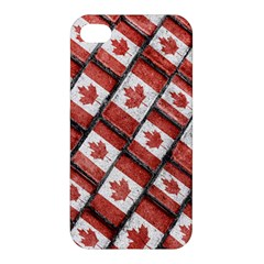 Canadian Flag Motif Pattern Apple Iphone 4/4s Premium Hardshell Case