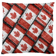 Canadian Flag Motif Pattern Large Cushion Case (two Sides)