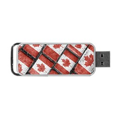 Canadian Flag Motif Pattern Portable Usb Flash (two Sides)
