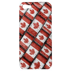 Canadian Flag Motif Pattern Apple Iphone 5 Hardshell Case
