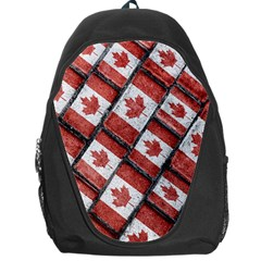 Canadian Flag Motif Pattern Backpack Bag
