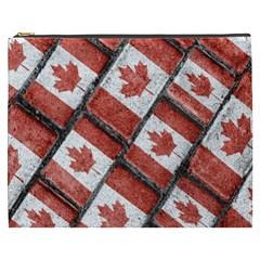 Canadian Flag Motif Pattern Cosmetic Bag (xxxl)