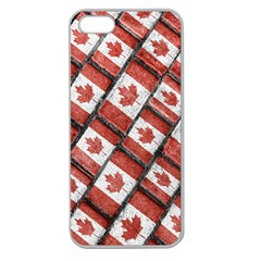 Canadian Flag Motif Pattern Apple Seamless Iphone 5 Case (clear)