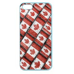 Canadian Flag Motif Pattern Apple Seamless Iphone 5 Case (color)