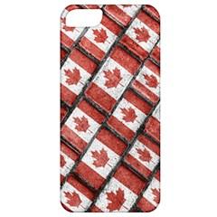 Canadian Flag Motif Pattern Apple Iphone 5 Classic Hardshell Case