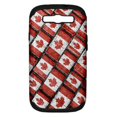 Canadian Flag Motif Pattern Samsung Galaxy S Iii Hardshell Case (pc+silicone)