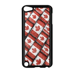 Canadian Flag Motif Pattern Apple Ipod Touch 5 Case (black)