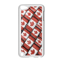 Canadian Flag Motif Pattern Apple Ipod Touch 5 Case (white)