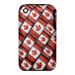 Canadian Flag Motif Pattern Iphone 3s/3gs
