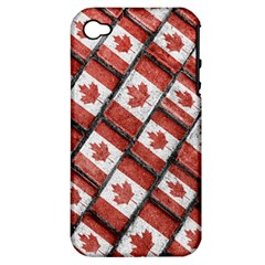 Canadian Flag Motif Pattern Apple Iphone 4/4s Hardshell Case (pc+silicone)