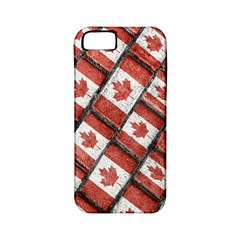 Canadian Flag Motif Pattern Apple Iphone 5 Classic Hardshell Case (pc+silicone)