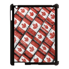 Canadian Flag Motif Pattern Apple Ipad 3/4 Case (black)