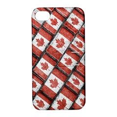 Canadian Flag Motif Pattern Apple Iphone 4/4s Hardshell Case With Stand