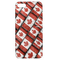 Canadian Flag Motif Pattern Apple Iphone 5 Hardshell Case With Stand