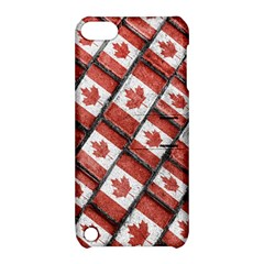 Canadian Flag Motif Pattern Apple Ipod Touch 5 Hardshell Case With Stand