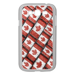 Canadian Flag Motif Pattern Samsung Galaxy Grand Duos I9082 Case (white)