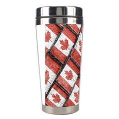 Canadian Flag Motif Pattern Stainless Steel Travel Tumblers