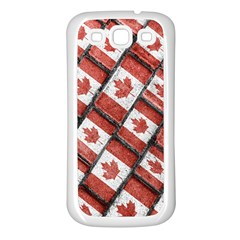 Canadian Flag Motif Pattern Samsung Galaxy S3 Back Case (white)