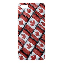 Canadian Flag Motif Pattern Iphone 5s/ Se Premium Hardshell Case