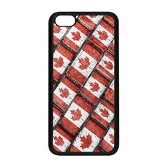 Canadian Flag Motif Pattern Apple Iphone 5c Seamless Case (black)