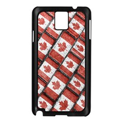 Canadian Flag Motif Pattern Samsung Galaxy Note 3 N9005 Case (black)