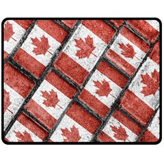 Canadian Flag Motif Pattern Double Sided Fleece Blanket (medium)