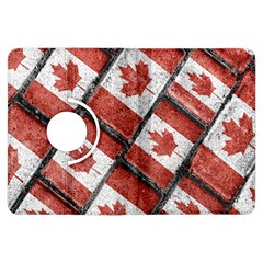 Canadian Flag Motif Pattern Kindle Fire Hdx Flip 360 Case