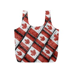 Canadian Flag Motif Pattern Full Print Recycle Bags (s)