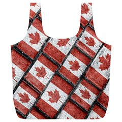 Canadian Flag Motif Pattern Full Print Recycle Bags (l)