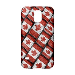 Canadian Flag Motif Pattern Samsung Galaxy S5 Hardshell Case