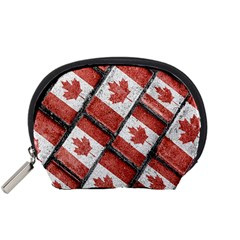 Canadian Flag Motif Pattern Accessory Pouches (small)