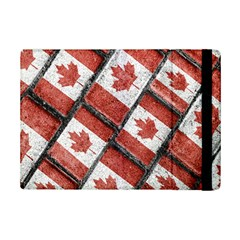 Canadian Flag Motif Pattern Ipad Mini 2 Flip Cases