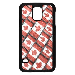 Canadian Flag Motif Pattern Samsung Galaxy S5 Case (black)