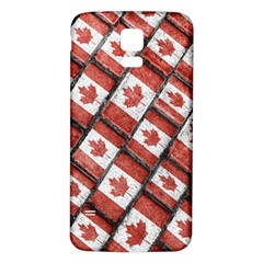 Canadian Flag Motif Pattern Samsung Galaxy S5 Back Case (white)